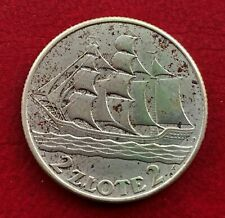 More details for poland, 1936, silver 2 zlote coin  - gdynia seaport