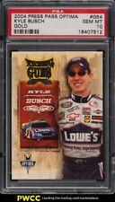 2004 Press Pass Optima Gold NASCAR Kyle Busch /100 #G54 PSA 10 GEM MINT