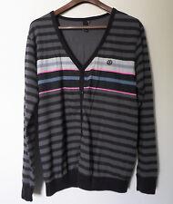 Element skateboard Men's Large V-neck Pullover Cardigan Sweater Jacket Coat