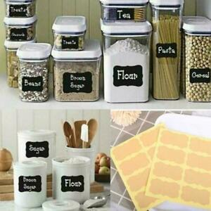 Sticker Craft Kitchen Jar Label Storage Bottle Sticker On Blackboard K6P5