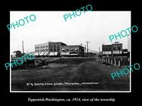 OLD LARGE HISTORIC PHOTO OF TOPPENISH WASHINGTON, VIEW OF THE TOWNSHIP c1914