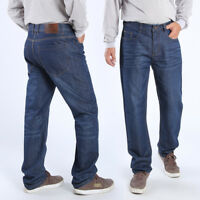 Mens Casual Denim Jeans Pants Straight Leg Loose Baggy Troursers All Waist Sizes