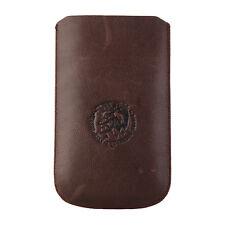 DIESEL X01038 Universal Slim Sleeve Handytasche Hülle Cover Leder Braun 81x132mm