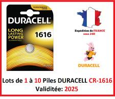 Piles CR-1620  DURACELL / Autre modèle: CR-1616-1220-2016-2025-2032-2430-2450