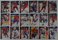 1994-95 Upper Deck UD Montreal Canadiens Team Set 18 Hockey Cards Missing #452