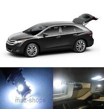 12x Premium Xenon White LED Lights Interior Package Kit for Toyota Venza
