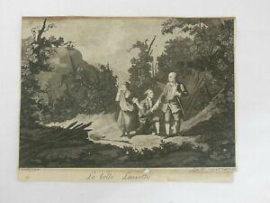 Radierung Pellegrino dal Colle, La Belle Laurette Büttenpapier original um 1770