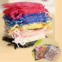100X 7*9cm Organza Pouch Jewelry Gift Candy Bag Wedding Party Favor Decoration