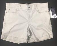 "NYDJ Khaki Shorts Womens Plus Size 16W or 37"" waist Lift n Tuck, Avery, Clay"