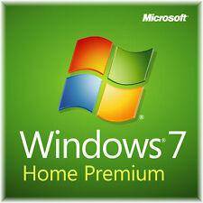 Windows 7 Home Premium SP1 64 bit full install DVD with license +Tech Help Sheet
