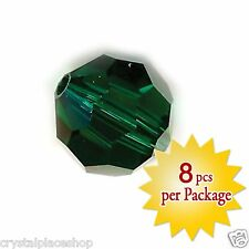 Swarovski Crystal 10mm Emerald Beads, Package of 8