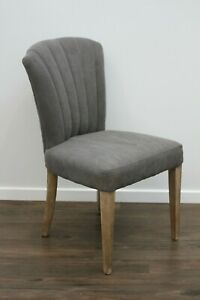 New Designer Bella Dining Occasional Chair Canvas Fabric Cover Oak Timber Frame