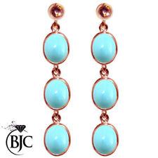 Orecchini di lusso con gemme turchese naturale pendente