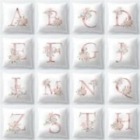 45x45cm Room Decoration Letter Pillow Cushion Cover English Alphabet Cushion US