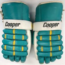 Vintage Cooper California Golden Seals Ice hockey gloves pro stock leather NHL