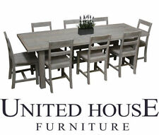 Timber Dining Furniture Sets with 9 Pieces