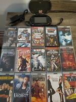 Sony PSP 1001 Black Handheld System Lot w/ 8 Games/7 Movies/Case/8GB Bundle