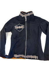 HELL IS FOR HEROES Women's Black Jacket Made in Italy Size Small 40? Rare Find!