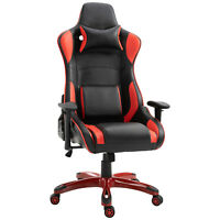 Ergonomic Gaming/ Office Chair Computer Chair Adjustable Padded Seat PU Leather