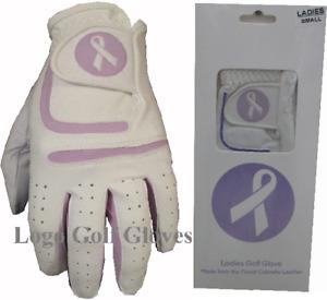 Ribbon Colour Lycra Cabretta Leather Golf Glove 5 Sizes 4 Ladies Small Medium