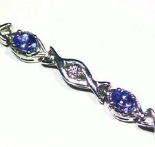1.78ct ct 14K Gold Natürliche Tansanit Diamant Vintage AAAA Halo Tennis Armband