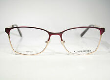 Large KUNOQVIST 'Steinum' TITANIUM Women's Purple & Gold Premium Glasses Frames