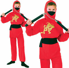 Unbranded Polyester Complete Outfit Ninja Unisex Fancy Dress