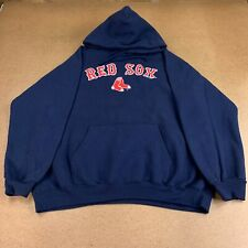Boston Red Sox MLB Men's Size Large Blue Logo Print Pullover Hoodie