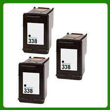 3 X reemplazar No OEM para HP 338 Photosmart C3175 C3180 Cartucho de Tinta Negra