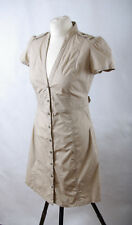 L234/42 Mango Cotton Beige Safari Dress, size L UK12