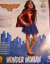 Wonder Woman Superhero Dc Comics Girls Costume Size Medium Tutu Dress Cape
