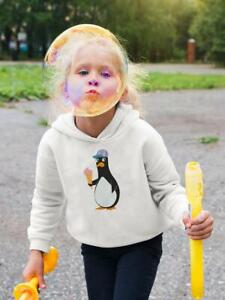 Cute Penguin With Ice Cream Hoodie -Image by Shutterstock