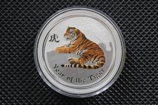 2010 Lunar II Tiger 1 oz farbig coloriert .999 Silber Perth Mint Top Zustand