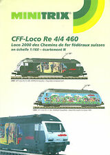 Catalogue MÄRKLIN MINITRIX 1995 CFF TRIX Loco 2000 CFFS train échelle N katalog