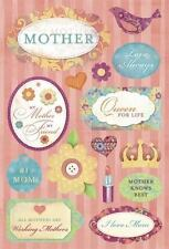 KAREN FOSTER DESIGN #1 MOTHER MOM FAMILY CARDSTOCK SCRAPBOOK STICKERS
