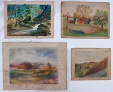 Dennis Consalvi 1905-1998 Newtown Bucks County Pennsylvania Artist 4 Pc. Lot, NR