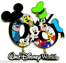 WDW Resort 2006 Dated Collection: Mickey & Gang 06 Dangle/Jumbo Pin (Boxed)