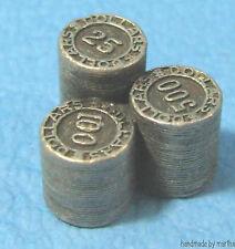 LAS VEGAS stack of chips pewter metal token pawn mini MONOPOLY game part
