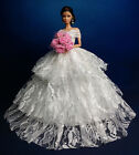 White Fashion Royalty Princess Party Dress/Clothes/Gown For 11.5in.Doll B134WH