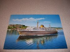 1970s CAR FERRY BRINDISI ITALY to GREECE VTG SHIP POSTCARD