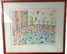 Kitty Wilkinson Limited Edition 94 / 200 Hand Signed Art Print Picture Beach II
