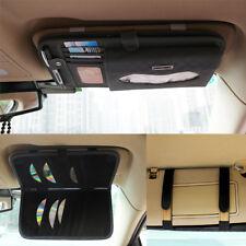 Leather Car Sun Visor 4 in 1 Tissue Napkin Storage Case Box Organiser CD Holder