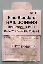 HO Scale - PECO Insulating SL-111 Rail Joiners for Code 70, 75 & Code 83 Rail