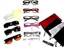 CLOSEOUT LOT 6 LADIES READING GLASSES & 5 Soft Cases 1 Hard Case +3.00 LRS64759