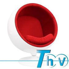 Presale!!! Ball Chair & Red Color Wool Cushion White Fiberglass Shell