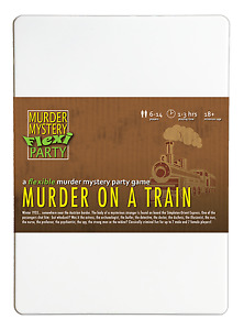 Murder on a Train Orient Express Murder Mystery Flexi Party for 6-14 Players
