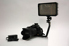 Pro EOS 4K 2 LED video light with AC power adapter for Canon DSLR AVCHD camera