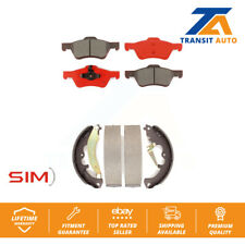 Front Rear Semi-Matllic Brake Pad & Drum Shoes Ford Escape Mercury Mariner Mazda