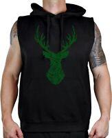 Men/'s Sketch Deer Head C9 Black Zipper Hoodie Mossy oak Hunting Wildlife Camping