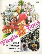 1978 NCAA Fiesta Bowl Football Program UCLA vs Arkansas Lou Holtz VERY GOOD Cond
